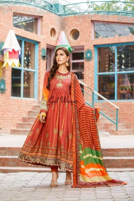 Gulwarun Eid Lawn Ready to Wear Collection 10